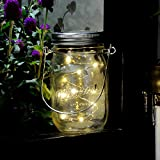 Mason Jar Lights, iThird 3 Pack 10 LED Warm White Solar Fairy Lights Lids Insert for Wedding Christmas Holiday Party Decorative Lighting Fit for Regular Mouth Jars(Jars Not Included)