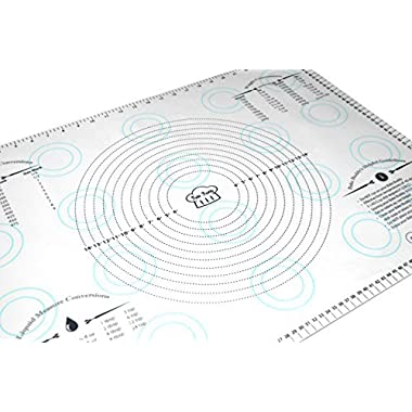 Bake Buddy Extra-Large Jumbo Silicone Pastry Mat 26.75  X 18.75  Non-Stick With Measurements and Conversion Charts