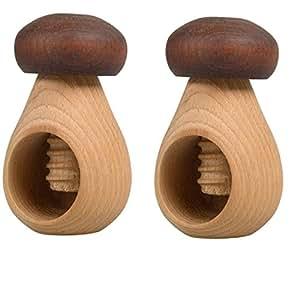 """3pcs hofmeister holzwaren cascanueces """"pilz de madera,"""" con rosca de tornillo), de madera de haya"""