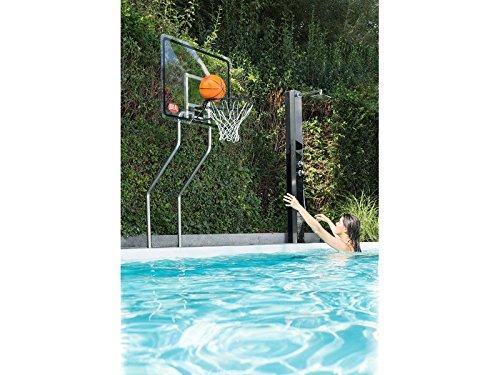 Basketballkorb aus Acrylglas für den Pool Ideal Eichenwald