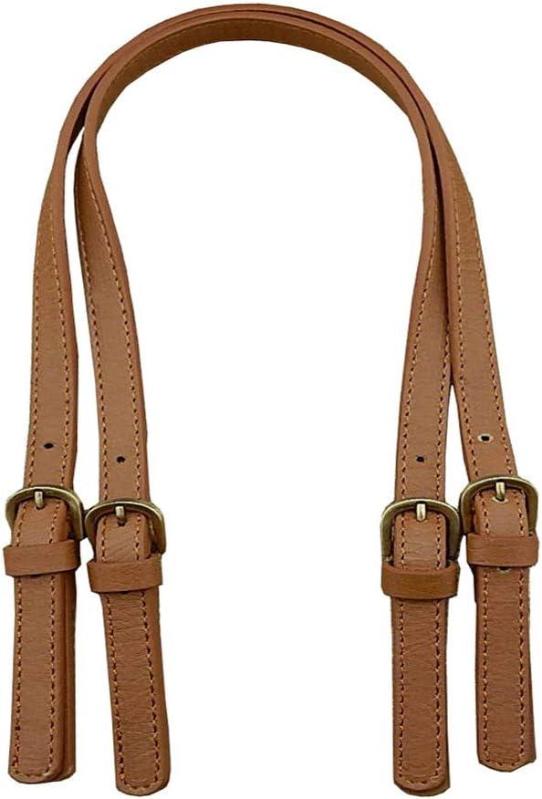 2pcs Handbag Leather Strap Handle Replacements Tote Bag Purse Repair Brown