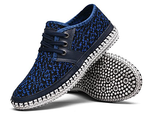 MOHEM Men's Poseidon Fashion Sneakers Casual Walking Shoes(3166-2Blue39)