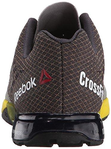 Reebok Damen Crossfit Nano 5.0 Trainingsschuh Zinngrau / Kohle / Gelb Spark / Black