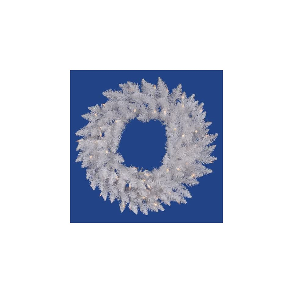 60 Sparkle White Spruce Christmas Wreath w/ 720T 220 LED Frosted Multi color Lights