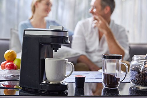 Aicok Single Serve Coffee Maker, Coffee Machine with 12OZ Water Tank, for Most Single Cup Pods including K-Cup Pods, Quick Brew Technology Travel One Cup Coffee Brewer by AICOK (Image #5)