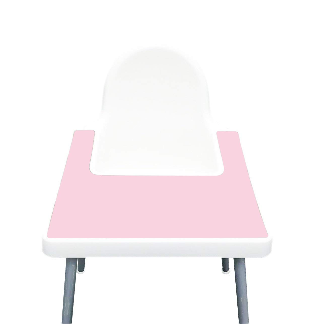 IKEA High Chair Placemat for Antilop Baby High Chair – Silicone Placemats for Baby and Toddler Finger Food Dropping – BPA Free, Dishwasher Safe – Non Slip Food Mat + More Colors (Ballerina Pink)