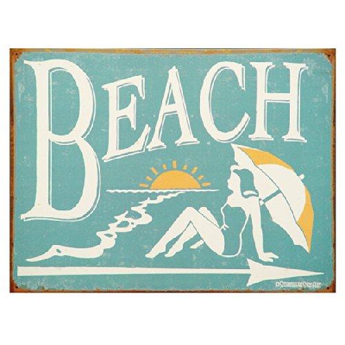 1950's Vintage Style Beach Metal Sign
