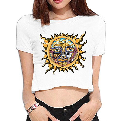 - Sublime Band Women Crop Top T Shirts Easeful Best Graphic