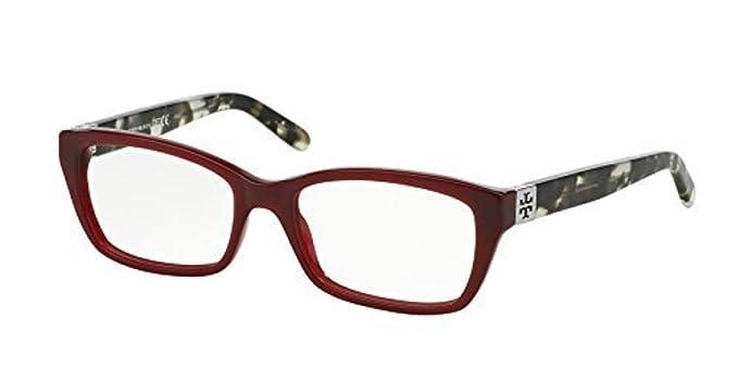 b0b4c7ba95 Amazon.com  Tory Burch Women s TY2049 Eyeglasses Milky Cabernet Grey  Tortoise 51mm   Cleaning Kit Bundle  Clothing