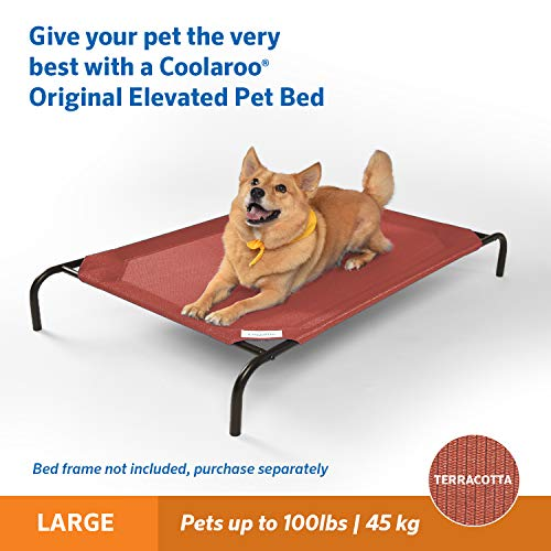 Coolaroo Replacement Cover, The Original Elevated Pet Bed by Coolaroo, Large, Terracotta (434441)