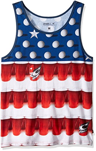 O'Neill Men's Beerpong Tank, White, X-Large