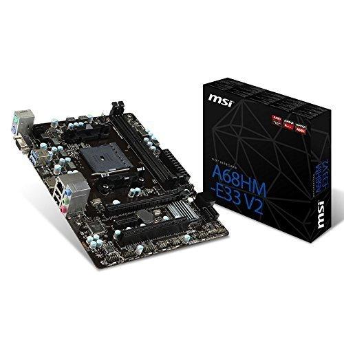 MSI A68HM-E33 V2 MSI A68HM-E33 V2 Socket FM2+/ AMD A68H/ DDR3/ SATA3&USB3.0/ A&Gb