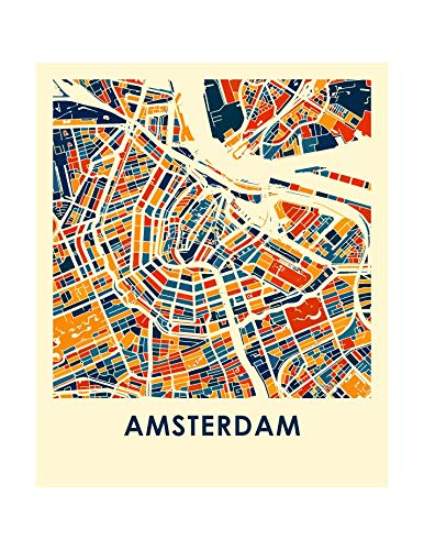 photo about Printable Map of Amsterdam named : I Including Maps - Amsterdam, Netherlands Finish Shade