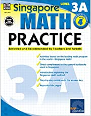 Singapore Math – Level 3A Math Practice Workbook for 4th Grade, Paperback, Ages 9–10 with Answer Key: Reviewed and Recommended by Teachers and Parents