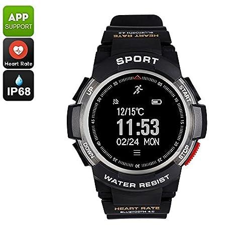 No.1 F6 Bluetooth Smartwatch Pedometer Heart Rate Monitor ...