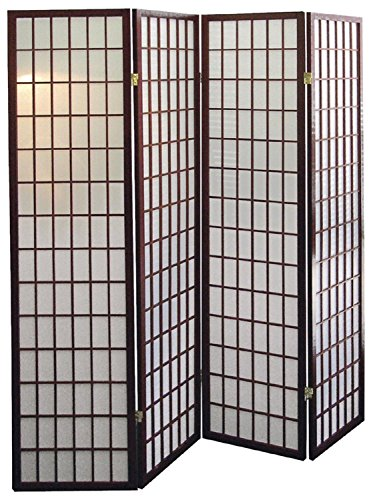 anel Wooden Screen, Cherry Finish (Cherry, 4 panel) (Panel Cherry Finish Wooden Screen)