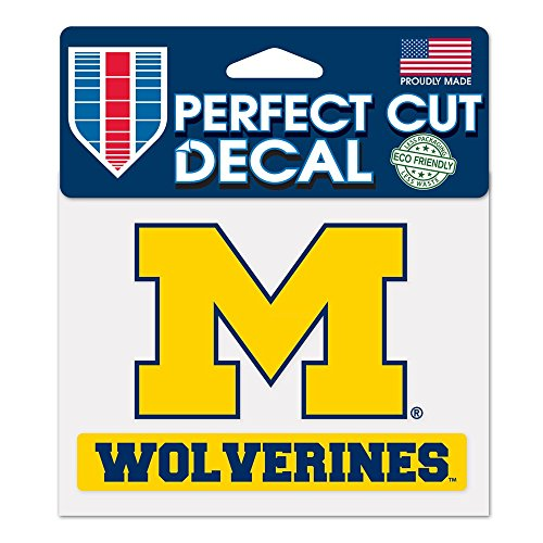 NCAA University of Michigan WCR38151014 Perfect Cut Color Decal, 4.5
