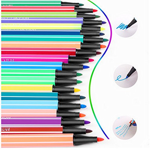 New 24 Colors Art marker, Washable Watercolor Marker Pen for Coloring Book and Craft Project Secret of Garden, Safe Highlighter Pain Pen with Non-Toxic Water-based Ink supplier