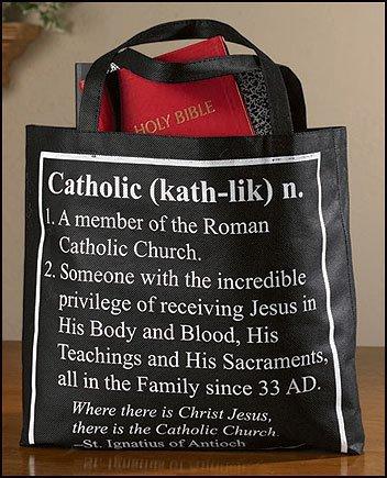 カトリック ディフィニション ラージ 14インチ リサイクルナイロン 教会 学校 聖書 勉強 本 トート 財布 バッグ B00ADP8SGU