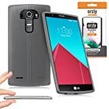 Orzly® - FlexiSlim Case for LG G4 - Super Slim (0.35mm) Protective Phone Cover in Semi Transparent WHITE - Retail Packed & Designed by Orzly Specifically for use with the LG G4 SmartPhone (2015 Model)