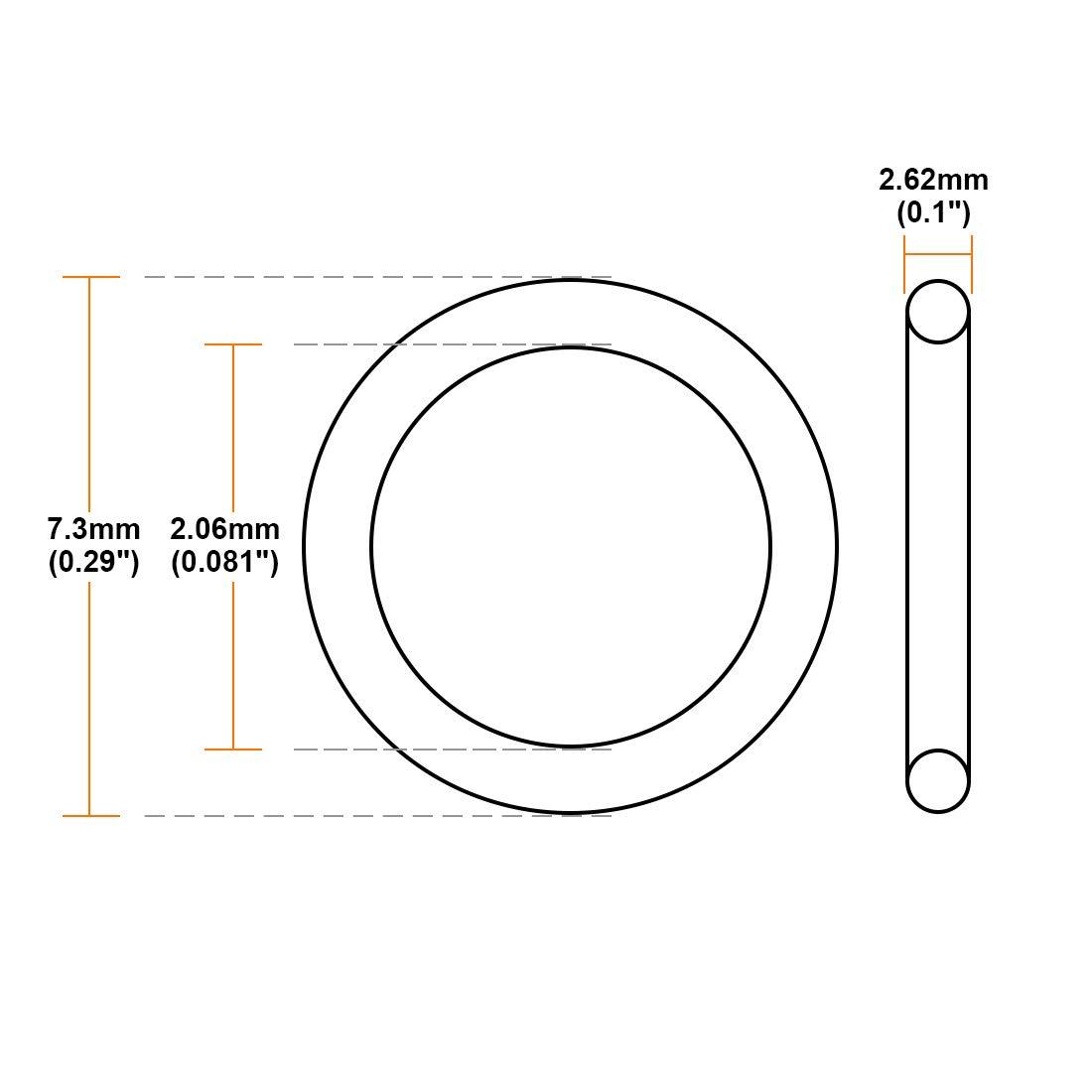 O Ring Nitrilkautschuk 1,24mm-22,22mm Innendurchm sourcing map 25Stk 2,62mm Breite Dichtung 15,54 mm x 20,78 mm x 2,62 mm
