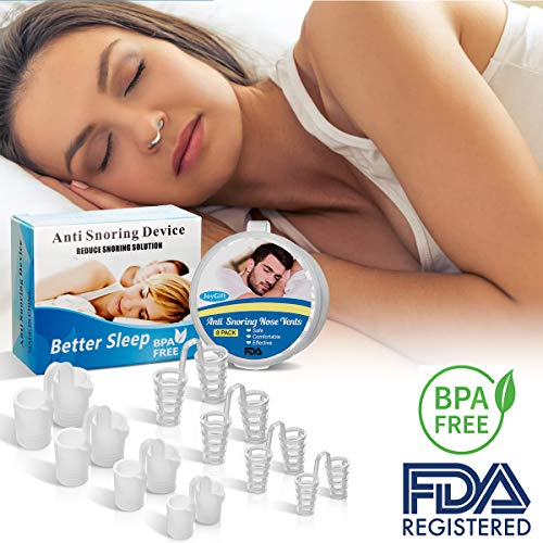 Anti Snoring Devices, Snoring Solutions Anti Snoring Stopper Nose Vents Nasal Dilators Snore Reducing Snore Stopper Advanced Snore Nasal Dilators Snore Reducing Aids for Men Women