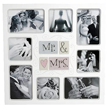 New View Tile Mdf Collage Photo Frame 3d Icons Mr Mrs Amazon