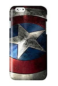 BESTER Captain America Shield Snap on Plastic Case Cover Compatible with Apple iPhone 6 and 6s
