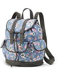 Candies Ella Floral Backpack (Blue Multi)