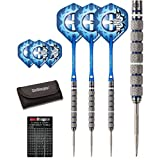 Red Dragon Robert 'The Thorn' Thornton 22g, 24g, 26g, 28g Tungsten Steel Darts with Flights, Shafts, Wallet & Red Dragon Checkout Card