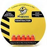 Plugfones Orange Silicone Replacement Plugs 5 Pairs