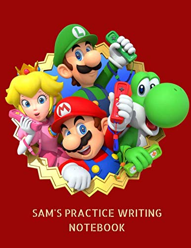 Sam's Practice Writing Notebook: Back to School Interlined Handwriting Journal for -