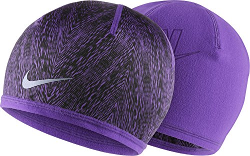 Nike Women's Cold Weather Dri-Fit Reversible Purple Run Beanie 1Size
