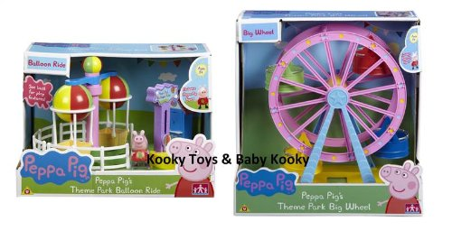 Peppa Pig BUNDLE Theme Park Big Ferris Wheel & Theme Park Balloon Ride 2 Items Dispatched from UK (Ferris Wheel Decoration)