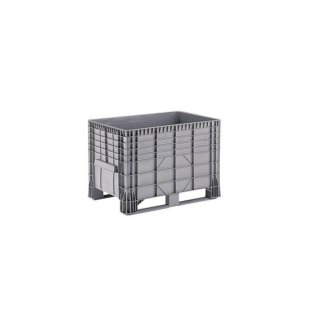 Caja de palet de polietileno, capacidad 550 l, 2 guías de plástico ...