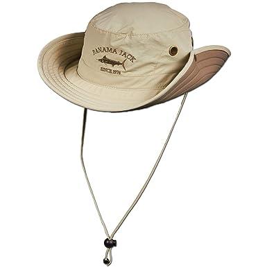 35b7d81e Amazon.com: Panama Jack Boonie Fishing Hat - Lightweight, Packable ...