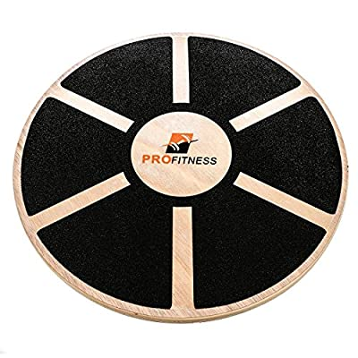 ProFitness Wooden Balance Board (15.5-inch by 3.1-inch) - Exercise, Fitness and Physical Therapy - Non-Slip Safety Top - Tone Muscles, Strengthen Core and Injury Rehab from ProFitness