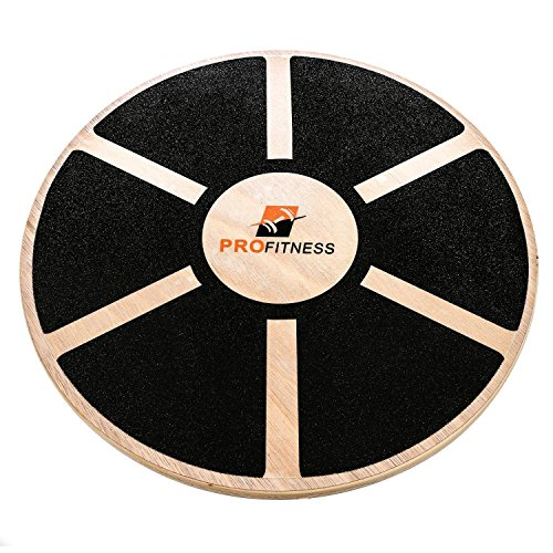 ProFitness Wooden Balance Board (15.5-inch by 3.1-inch) – Exercise, Fitness and Physical Therapy – Non-Slip Safety Top – Tone Muscles, Strengthen Core and Injury Rehab