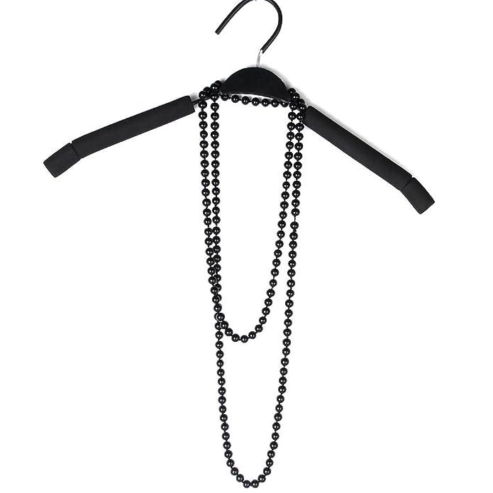 bbdd21c98e83 Collar Cadena Larga Para Suéter Negro Perla De Imitacion Moda Sweater  Necklace  Amazon.es  Joyería