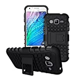 Samsung Galaxy J1 Back Cover Kickstand Defender Case For Samsung Galaxy J1 Back Cover (Black) By Vinnx With Free Men's PU Leather Belt Worth Rs 199/-
