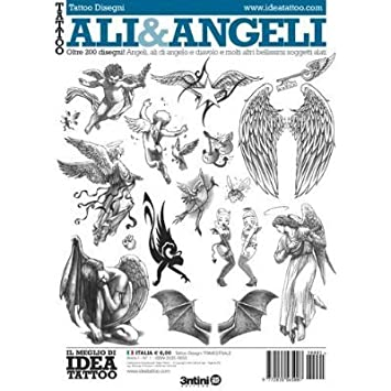 Amazon.com : Tattoo Ali & Angeli Wings & Angels / Tattoo Flash Book ...