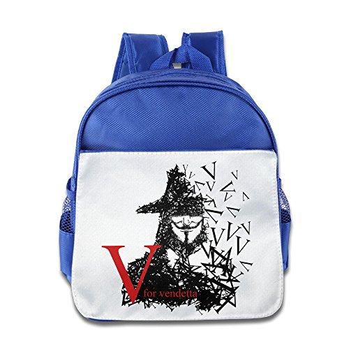 Price comparison product image NUBIA Vendetta V Logo Toddler Boys Girls Pre School Schoolbag RoyalBlue