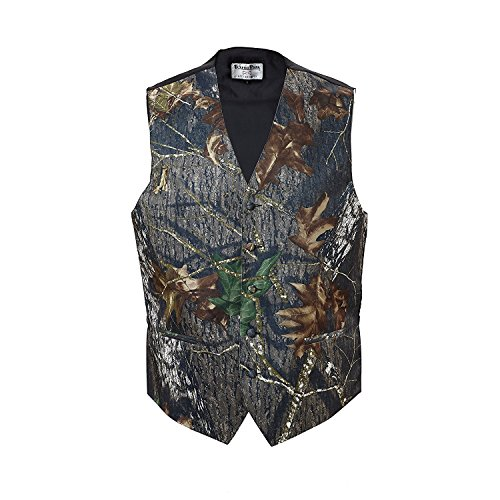 Camouflage Vest & Tie 2X-Large with Bow Tie Camo Bow Tie