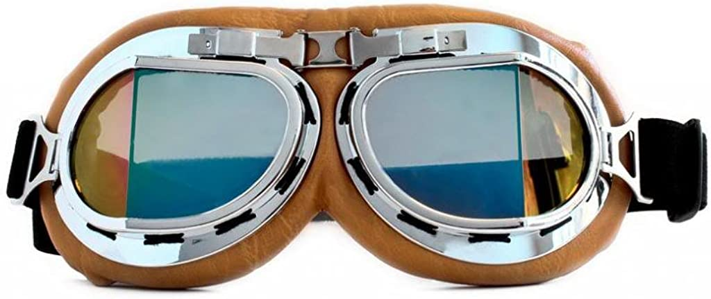 CRG Sports Vintage Aviator Pilot Style Motorcycle Cruiser Scooter Goggle T08 T08BCB - Parent