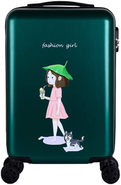 Simple 20//22//24//26 Inches Color : Dark Green-3, Size : 20 Hard Case Rotating Suitcase Black The Latest Style Simple and Haoyushangmao Carry Suitcase