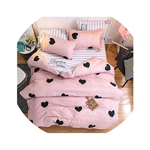 love enjoy Home Textile King Queen Twin Bed Linens Black Shooting Star Duvet Cover Sheet Pillowcase Boy Kid Teen Girl Bedding Sets,7,Full,Flat Bed Sheet