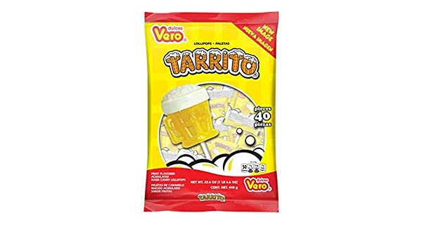 Amazon.com : Barcel USA Vero Tarrito Pop Candy 40P, 22.6 Ounce (Pack of 24) : Grocery & Gourmet Food