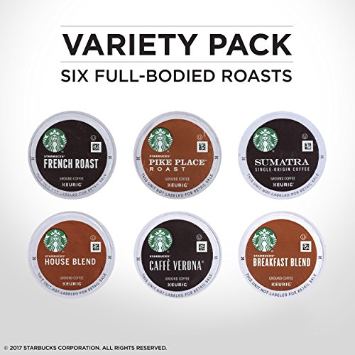 Starbucks Black Coffee K-Cup Variety Pack for Keurig Brewers, 10 Count ( Pack of 6 ) by Starbucks (Image #3)