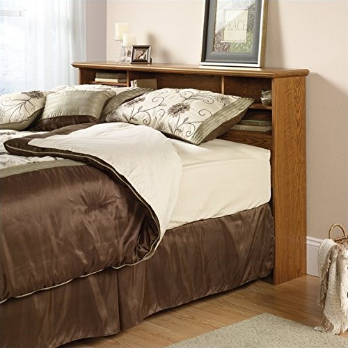 Sauder 401294 Orchard Hills Full/Queen Bookcase Headboard, Carolina Oak finish by Sauder