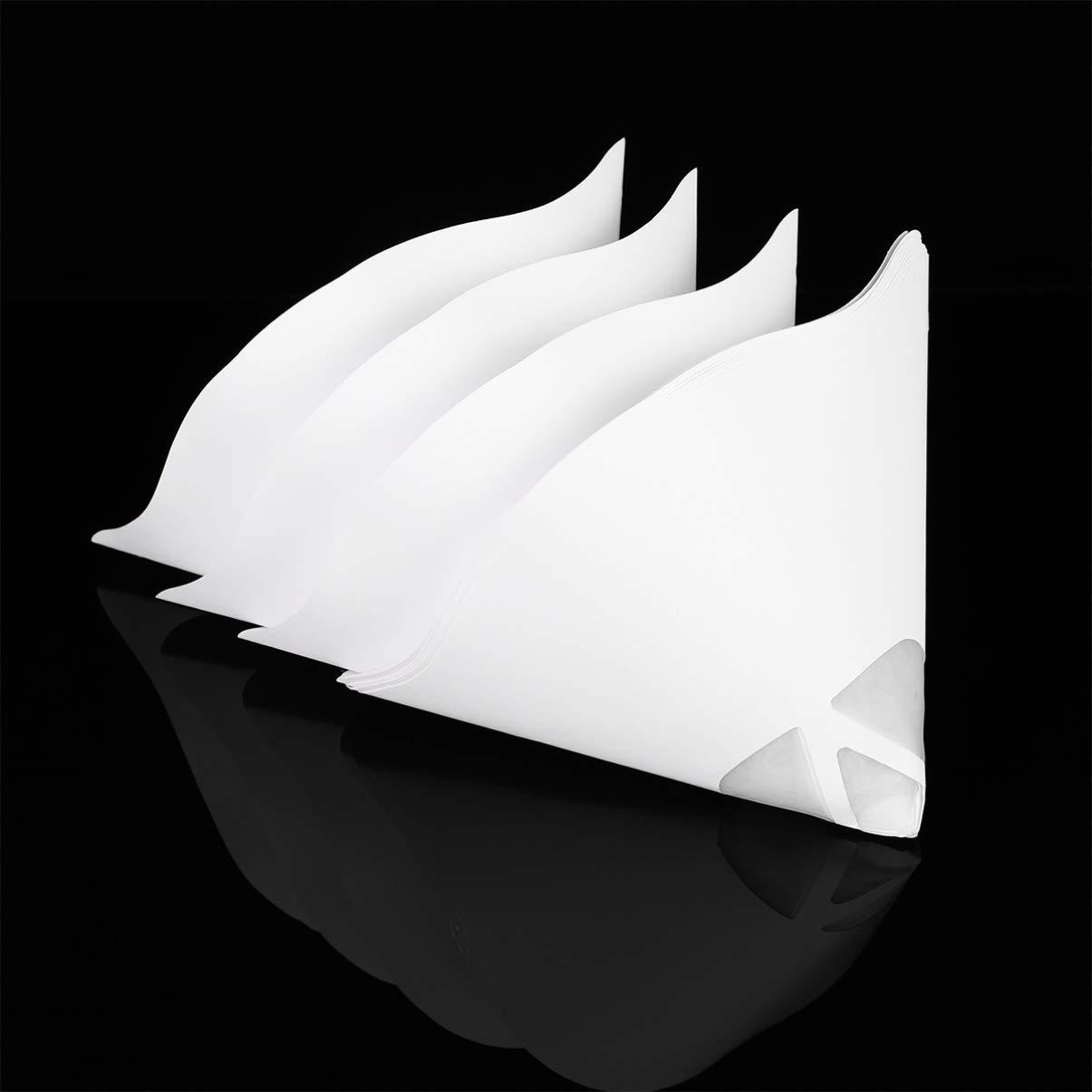 Lightweight Disposable Convenient Paper Filter Filament Filter Disposable Filter for Photon UV SLA 3D Printer Paint Strainers 10PCS Strainer Cone UKCOCO Paper Filters